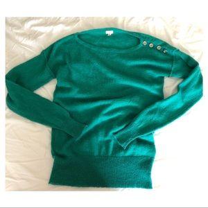 J. Crew Teal Light Knit Sweater